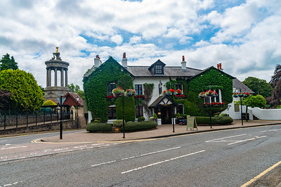High Maybole Rd, and the Brig O' Doon Hotel Alloway Scotland
