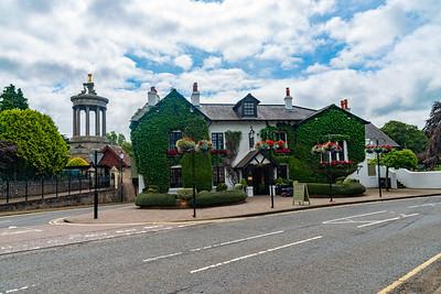 High Maybole Rd, and the Brig O' Doon Hotel Alloway Scotland