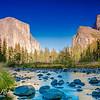 Merced River with El Capitan