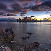 Mono Lake Tufa  formation during sunrise