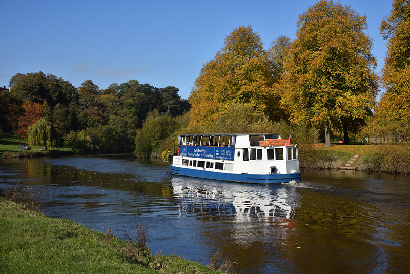 Sabrina Boat on the river Severn, Shrewsbury.
