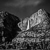 Yosemite Falls In Moonlight