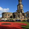 St Chads church, Shrewsbury on remembrance day 2018