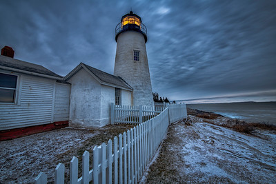 Pemaquid with snow
