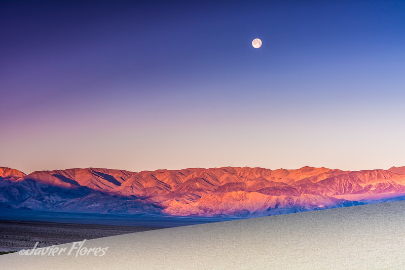 Mesquite Flats and moon