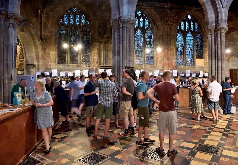 Shrewsbury beer festival at St Marys Church.