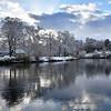 The River Severn and Porthill Bridge, Shrewsbury.
