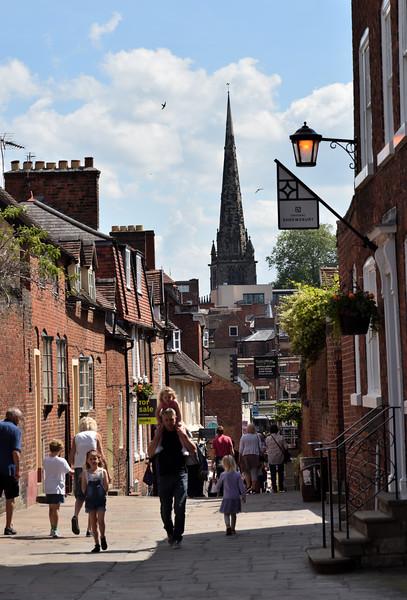Claremont Hill and St Marys church, Shrewsbury