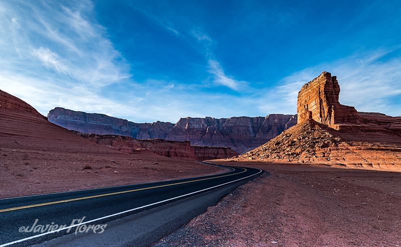 Road shot of Marble Canyon route 89A