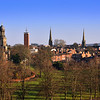 A view of the town centre, Shrewsbury.