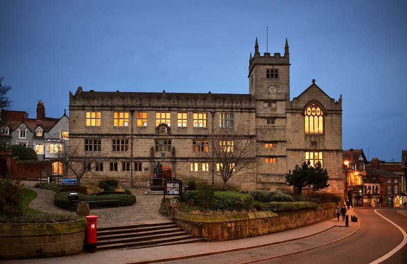 Shrewsbury library.