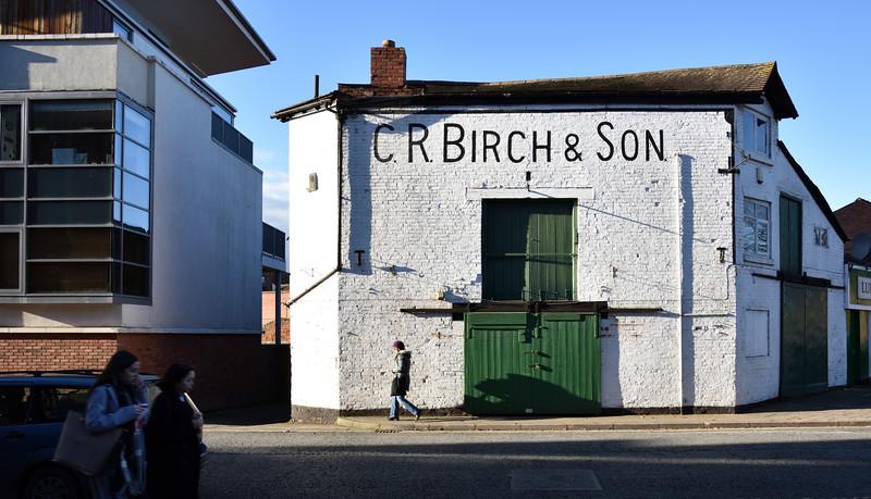 The former shop premises of C.R. Birch, Shrewsbury.