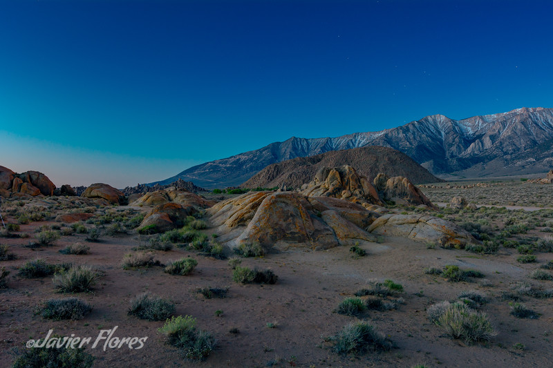 Twilight at Alabama Hills