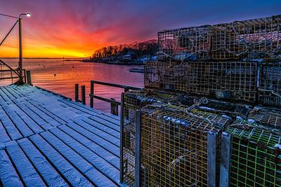 New Harbor Sunrise 0 Degrres