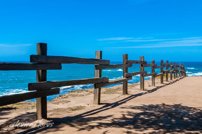 Half Moon Bay at Fitzgerald Marine Reserve Fence