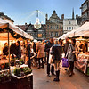Christmas market in the square, Shrewsbury.