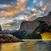 Canadian Rocky Mountains Sunset