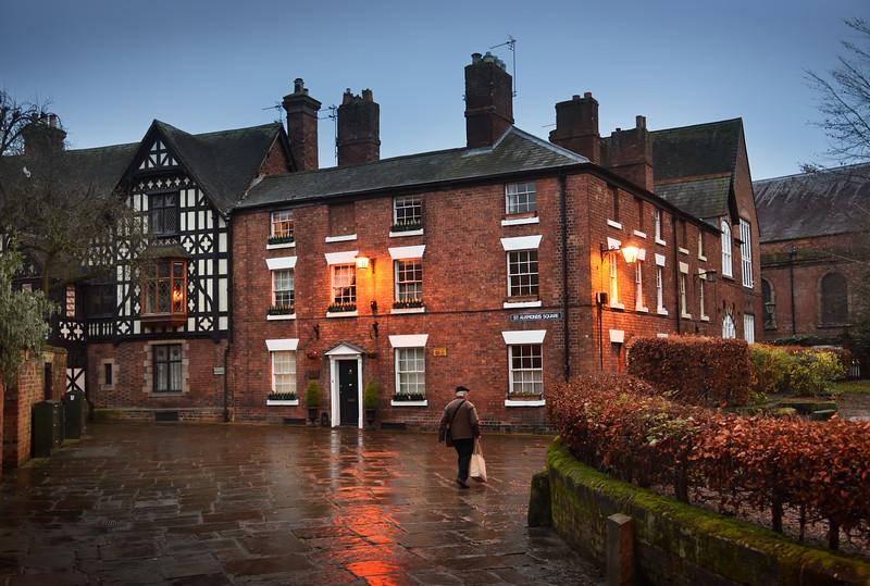 st alkmunds square, Shrewsbury.