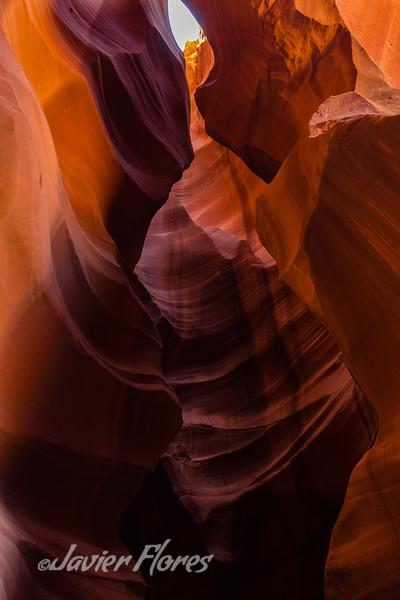 Colorful slot canyon walls