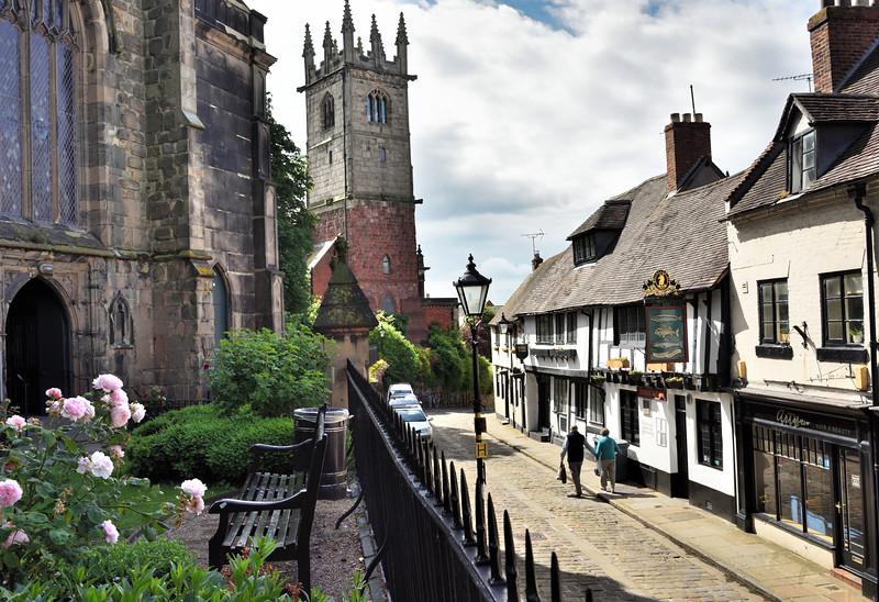 Fish Street and St Julians church, Shrewsbury