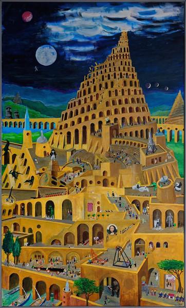 Babel.  Acryl    1.2 x 2.0 m