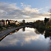 A view of the river Severn looking towards Castlefields and the Weir, Shrewsbury.