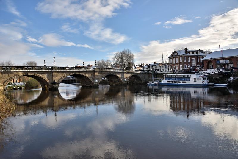 The Welsh Bridge, shrewsbury.
