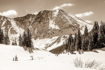 Mayflower Gulch in Sepia