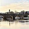 The river Severn and English Bridge, Shrewsbury.