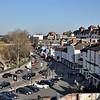 Pamoramic views of Smithfield Road and Shrewsbury Hotel.