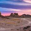 Trona tufa at sunset