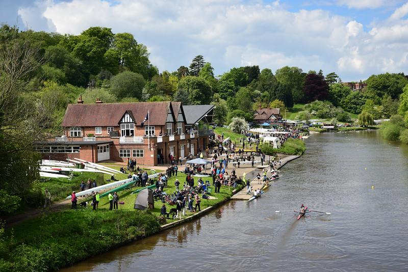 Shrewsbury regatta on the the River Severn.