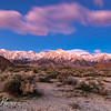 Sunrise at Alabama Hills with the last star of the night
