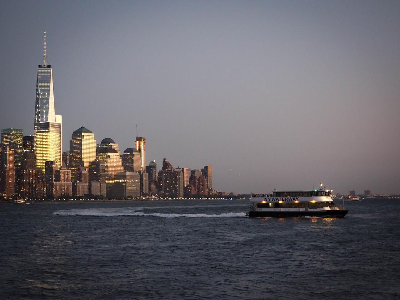 View of lower Manhattan from Hoboken, NJ