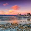 Colorful sunset at Mono Lake