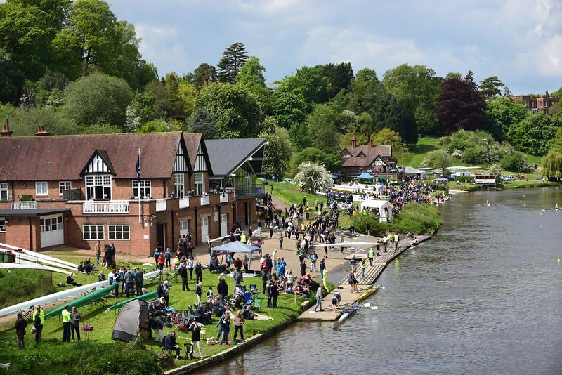 The Shrewsbury Regatta on the River Severn.