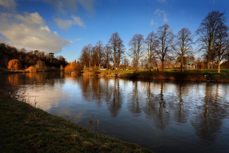 The Quarry and river Severn, Shrewsbury.