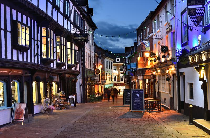 Shrewsbury Christmas lights, Butcher Row.
