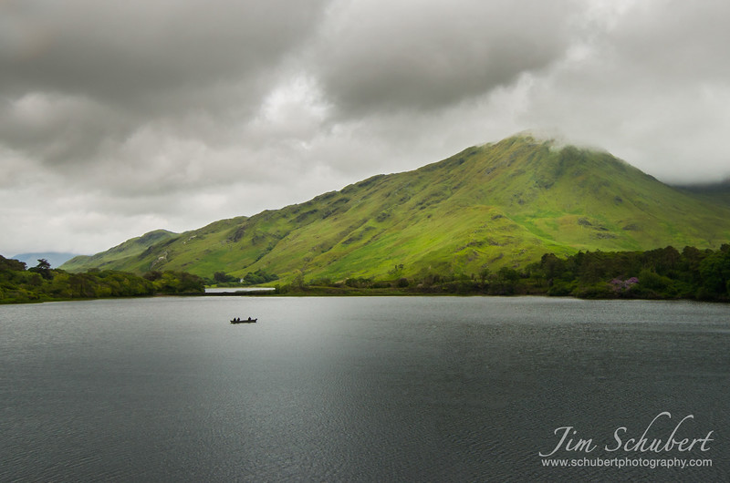 Lonely boat of Pollacapall Lough