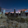 Tufa towers at Night