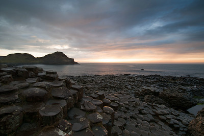 The Sunset at the Giant's Causeway