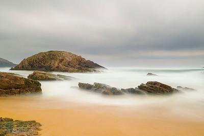 Sand and rocks