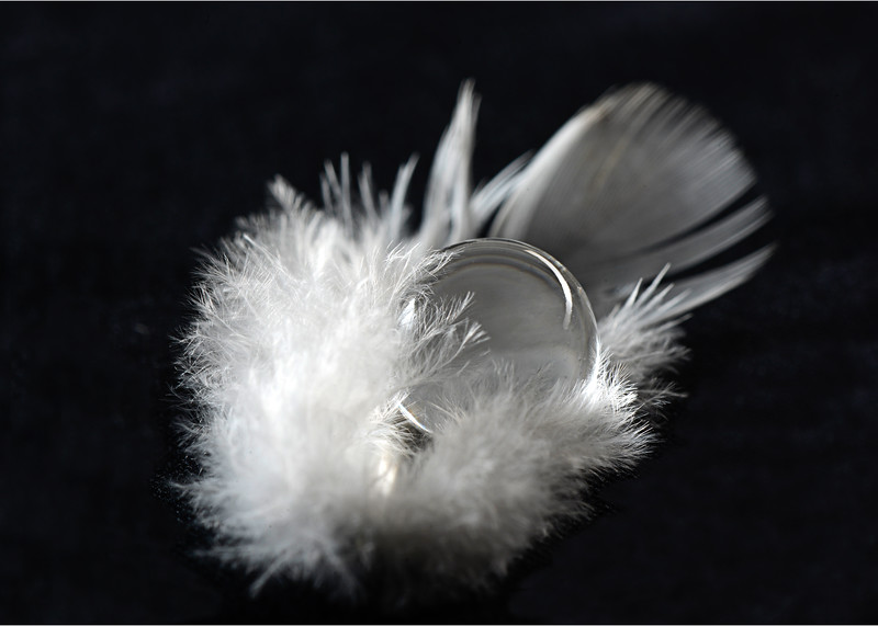 Gel Ball And Feather