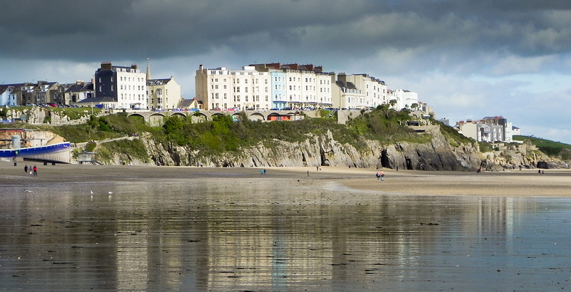 Reflections on Tenby Beach
