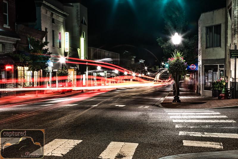 Blacksburg Downtown Lights 1