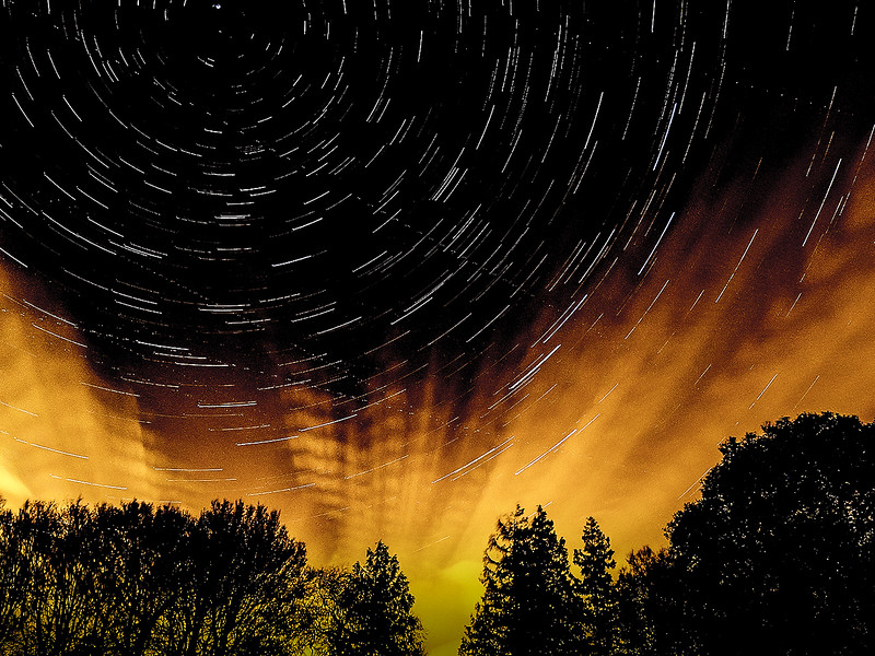 Star Trail at Copped Hall, Essex