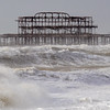 Storm around the West Pier, Brighton