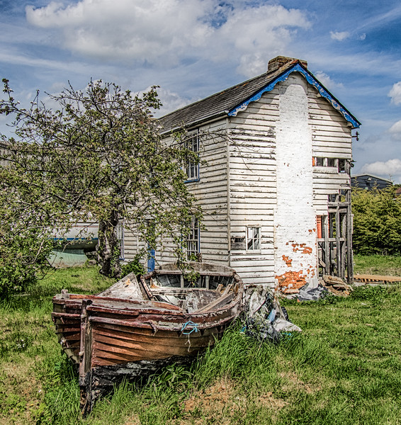Old Boat & House, West Mersea, Essex