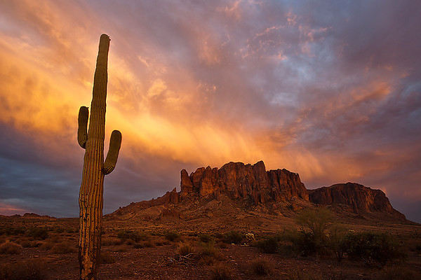 """Superstition light""<br /> <br /> Awesome light show at Lost Dutchman State Park."