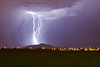 """San Tan Bolts""<br /> <br /> An amazing evening of light show near the San Tan mountains."